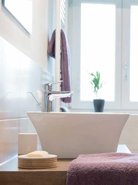 2 Großräumige Badezimmer finden Sie in unserem Landhaus