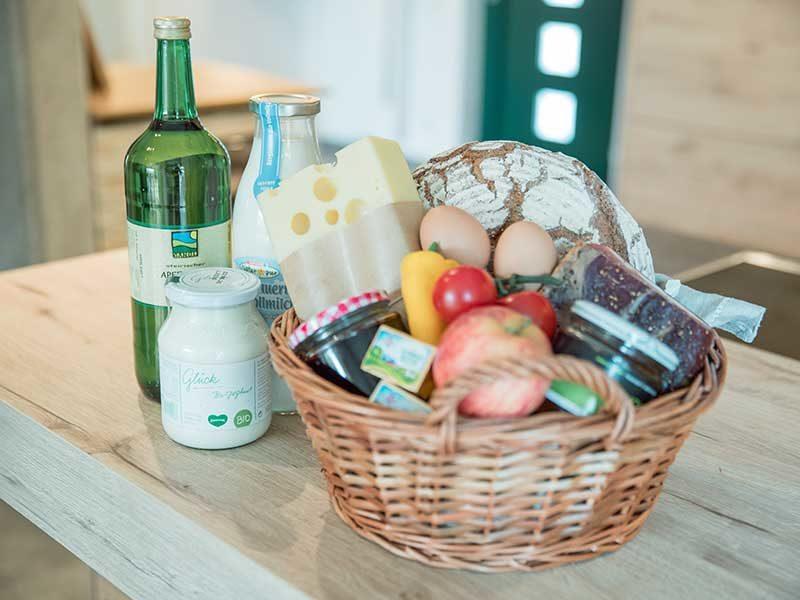 Gäste können einen leckeren Frühstückskorb buchen!